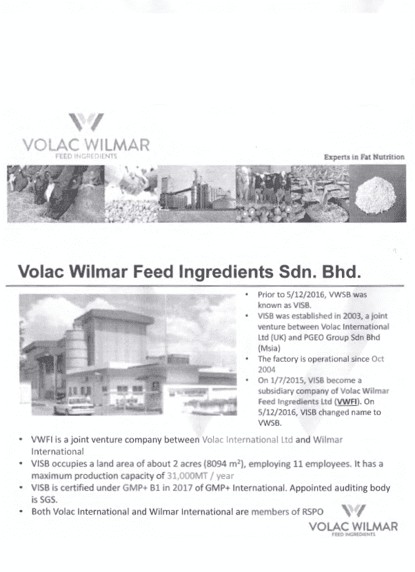 volac wilmar feed ingredients